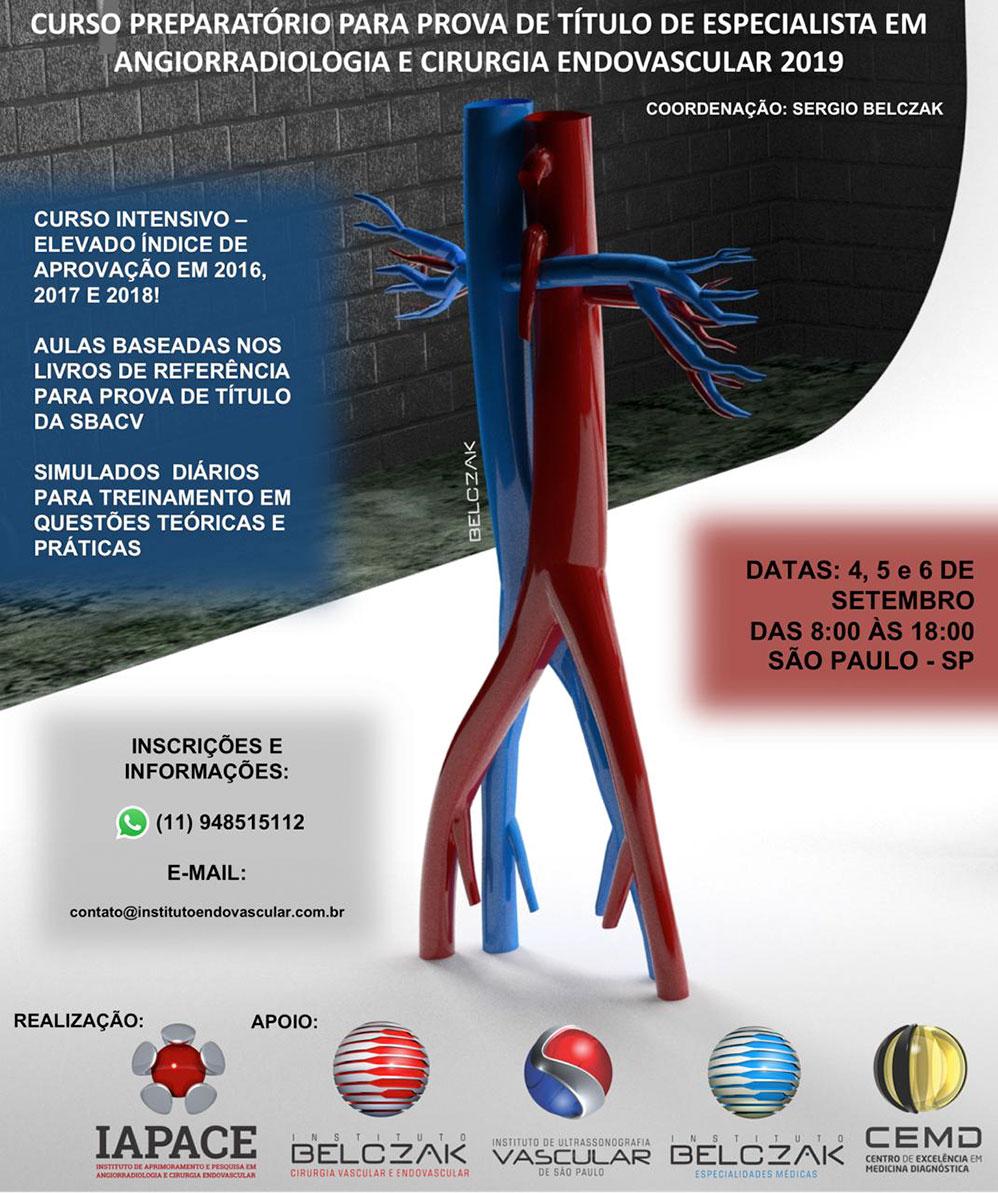Curso Preparatório para Prova de Título de Especialista em Angiorradiologia e Cirurgia Endovascular 2019